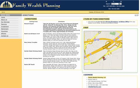 Screenshot of Maps & Directions Page sfrfamily.com - Family Wealth Planning / Summit Financial Resources  - Directions - captured Feb. 9, 2016
