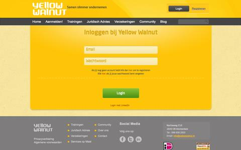 Screenshot of Login Page yellowwalnut.nl - Sign In | YellowWalnut - captured Oct. 7, 2014