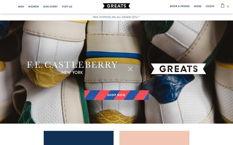 Premium Sneakers. Free Shipping on Orders $75+ | Greats