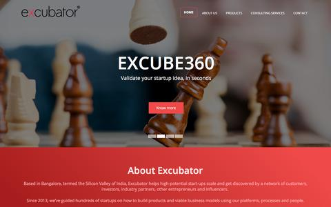 Screenshot of Home Page excubator.org - Excubator - captured July 23, 2018