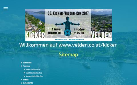 Screenshot of Site Map Page jimdo.com - Sitemap - kickerveldens Webseite! - captured March 19, 2017