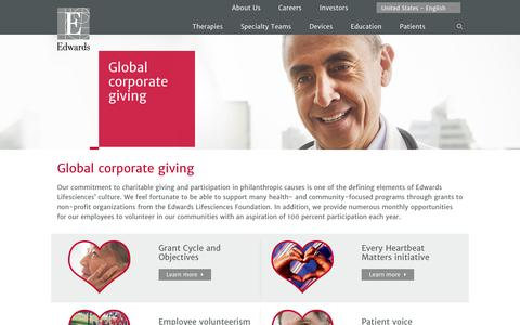 Global corporate giving | Edwards Lifesciences