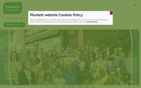 Screenshot of Press Page plunkett.co.uk - News - Plunkett Foundation - captured Sept. 28, 2018