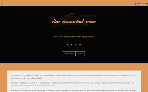 Screenshot of About Page tumblr.com - The Tamarind Tree — About us - captured Oct. 20, 2018