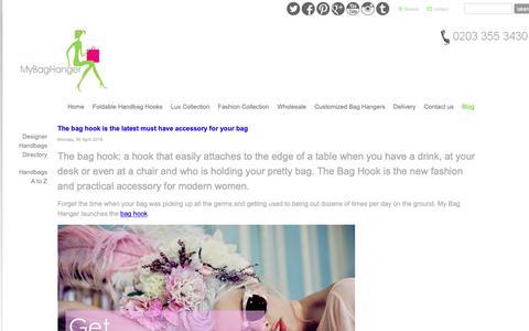 Screenshot of Blog mybaghanger.com - All about handbags and fashion - Handbag Hook | Handbag Hanger | Bag Holder | Purse Hook - captured Oct. 1, 2018