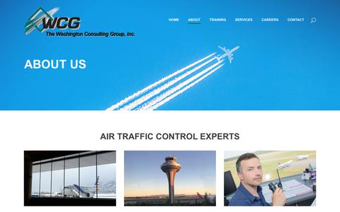 Screenshot of About Page washcg.com - The Washington Consulting Group, Inc. |   About Us - captured Oct. 24, 2017