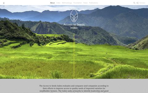 Screenshot of About Page accesstoseeds.org - About - Access to seeds - captured Oct. 23, 2017