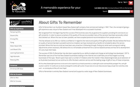 Screenshot of About Page remember.co.nz - About Gifts To Remember | Gifts to Remember New Zealand - captured April 11, 2017