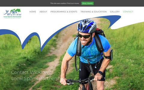 Screenshot of Contact Page wicklowlsp.ie - Contact us - Wicklow Local Sports Partnership - captured Oct. 19, 2018