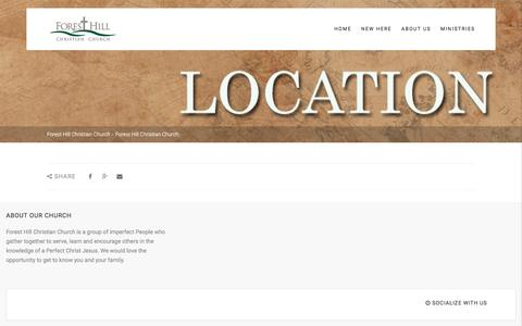 Screenshot of Contact Page Site Map Page fhcc.org - Forest Hill Christian Church   –  Forest Hill Christian Church - captured June 14, 2016