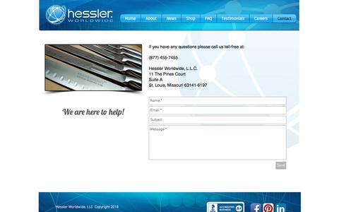 Screenshot of Contact Page hesslerworldwide.com - Contact Hessler Worldwide - captured Aug. 19, 2018