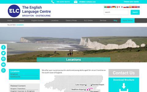 Screenshot of Locations Page elc-schools.com - Locations | English Schools in Brighton & Eastbourne: ELC - captured July 7, 2018