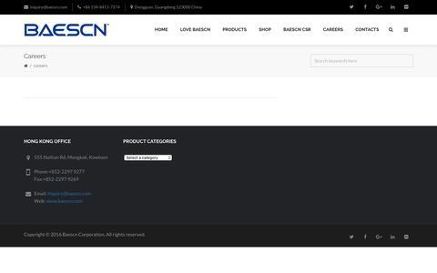 Screenshot of Jobs Page baescn.com - Careers   Baescn Corporation - captured Sept. 29, 2016
