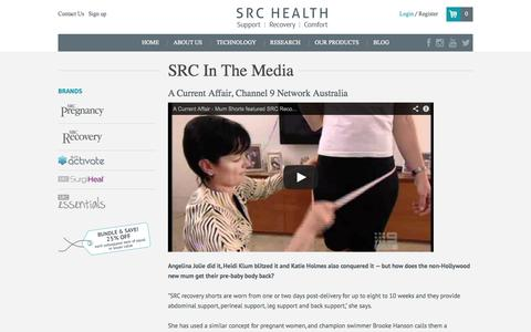 Screenshot of Press Page recoveryshorts.com - Media - captured Oct. 3, 2014