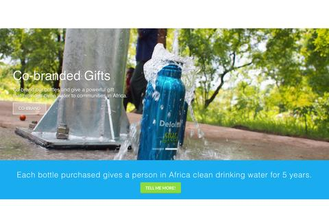 Screenshot of Home Page givemetap.co.uk - Reusable BPA-free water bottle that funds water projects - captured Nov. 5, 2015