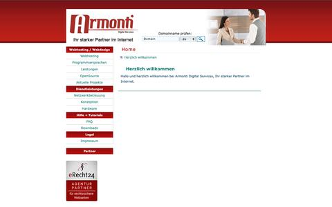 Screenshot of Home Page armonti.de - Armonti Digital Services | Home - captured Oct. 4, 2018