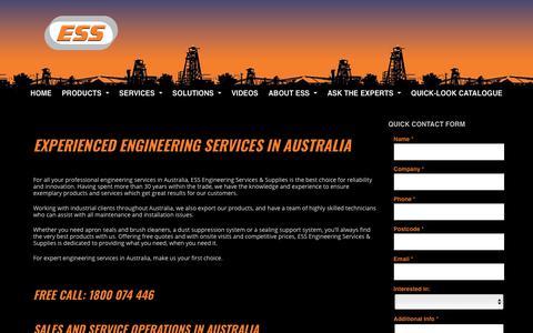 Screenshot of Contact Page esseng.com.au - Engineering | Australia | ESS  | ESS Engineering - captured Sept. 26, 2018