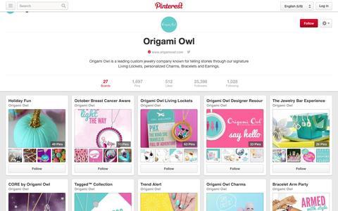 Screenshot of Pinterest Page pinterest.com - Origami Owl on Pinterest - captured Oct. 29, 2014