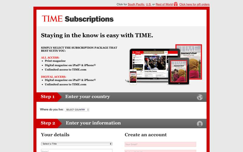 TIME Asia subscription