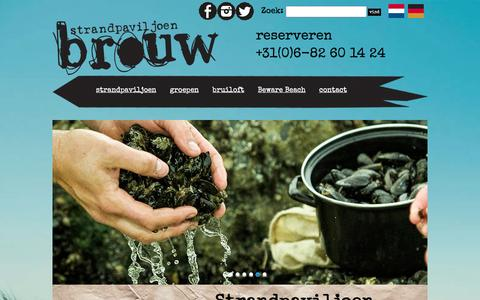 Screenshot of Home Page brouw.nl - Strandpaviljoen Brouw - Strandpaviljoen Brouw - captured Jan. 7, 2016