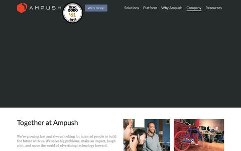 Careers at Ampush | Leader in Mobile Advertising