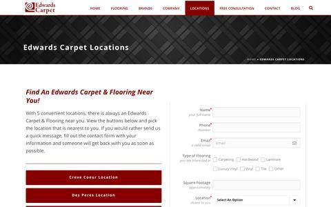 Screenshot of Locations Page edwardscarpet.com - Edwards Carpet Locations - Edwards Carpet - captured July 16, 2018