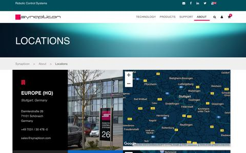 Screenshot of Locations Page synapticon.com - Locations – Synapticon - captured Oct. 18, 2018