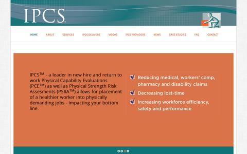 Screenshot of Case Studies Page ipcs-inc.com - IPCS | Industrial Physical Capability Services - captured Oct. 26, 2014