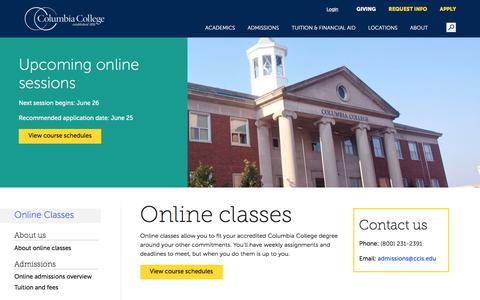 Columbia College Online