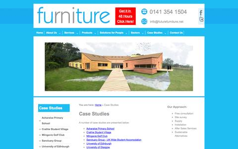 Screenshot of Case Studies Page futurefurniture.net - Case Studies | Future Furniture - captured Sept. 30, 2014