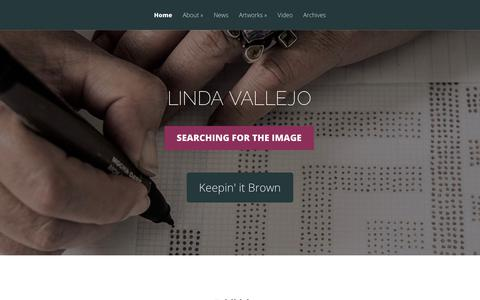 Screenshot of Home Page lindavallejo.com - Linda Vallejo | searching for the image - captured June 29, 2018