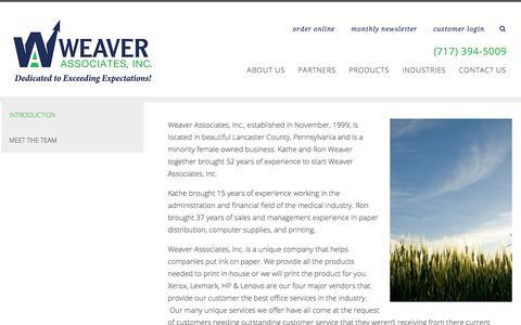Screenshot of About Page weaverassociatesinc.com - IT Introduction | About Us | Lancaster PA | Weaver Associates - captured Sept. 21, 2018