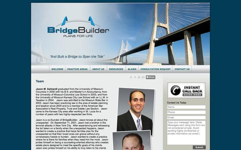 Screenshot of Team Page bridgebuilderkda.com - Team Kansas City MO Lawyer Attorney Law Firm - captured Oct. 5, 2014