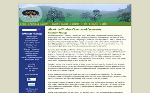 Screenshot of About Page windsorchamber.com - About the Windsor Chamber of Commerce | Windsor Chamber of Commerce and Visitors Center - captured Jan. 15, 2017