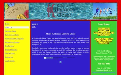 Screenshot of About Page uniformcloset.com - KRUC-About Us - captured June 18, 2016