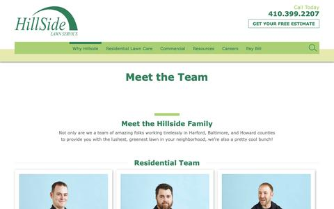 Screenshot of Team Page hillsidelawn.com - Meet the Team - Hillside Lawn - captured Sept. 28, 2018