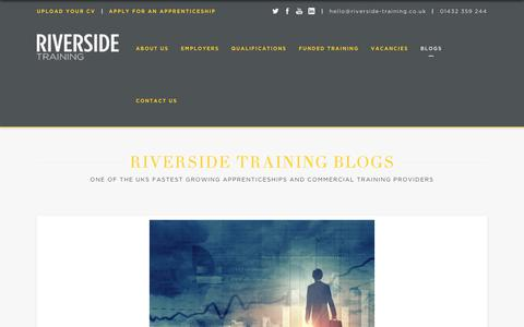 Screenshot of Blog riverside-training.co.uk - Riverside Training Blogs - captured Dec. 11, 2018