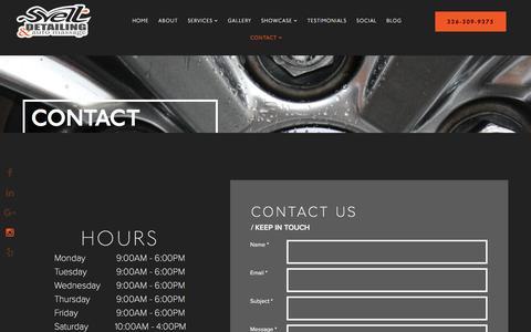 Screenshot of Contact Page sveltdetailing.com - Contact - Svelt Detailing - captured Dec. 2, 2016