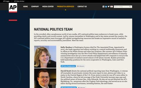Screenshot of Team Page ap.org - National Politics Team - captured Aug. 30, 2016