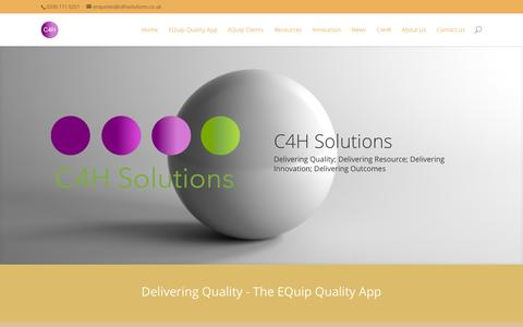 Screenshot of Home Page c4hsolutions.co.uk - C4H Solutions - C4H Solutions - captured Jan. 16, 2015