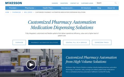 Automated Medication Dispensing Solutions for Pharmacies | McKesson