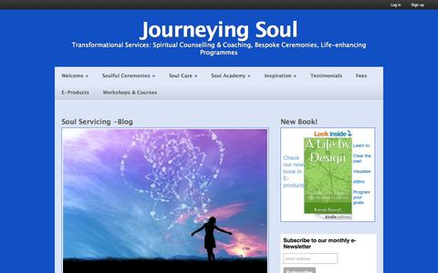 Screenshot of Blog sgv2.com - articles on spirituality, personal development and esoteric wisdom - Journeying Soul - captured Oct. 6, 2014