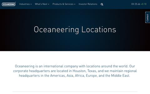 Screenshot of Locations Page oceaneering.com - Locations | Oceaneering : Oceaneering - captured July 29, 2017