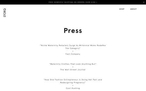 Screenshot of Press Page storq.com - Press - Storq | Storq - captured May 26, 2017