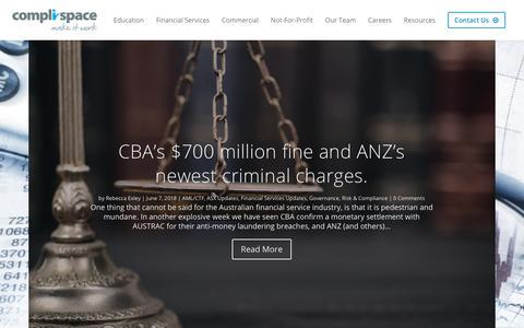 Screenshot of Blog complispace.com.au - Blog | CompliSpace - captured July 20, 2018