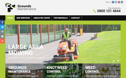 Screenshot of Home Page fsgm.co.uk - Four Seasons | Commercial Grounds Maintenance | Garden Services | West Midlands | Birmingham Grounds Maintenance | Home - captured Nov. 25, 2016