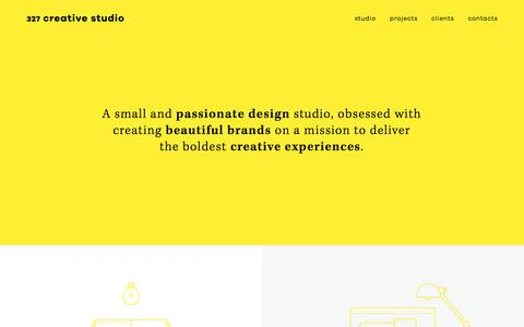 Screenshot of Home Page 327.pt - 327 Creative Studio - captured Nov. 28, 2016