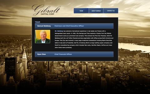 Screenshot of Team Page gibralt.com - Meet Our Team | Gibralt Capital Corporation - captured Sept. 29, 2014