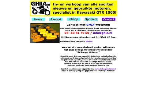Screenshot of Contact Page ghia.nl - GHIA motoren, Oss, verkoop, motor, motors, motorfiets, motorfietsen, moter, moters - captured Sept. 26, 2018