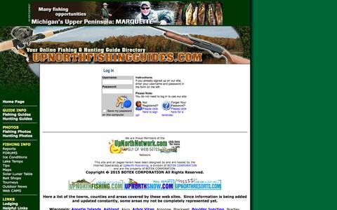 Screenshot of Login Page upnorthfishingguides.com - UpNorth Fishing Guides LoginFishing Northern Wisconsin and the Western UP of Michigan - captured March 7, 2016